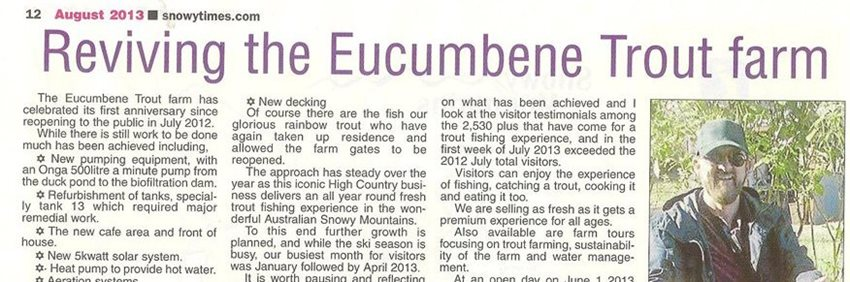 Open day article in The Snowy Times